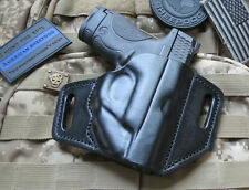 Leather Holster for M&P Shield & Shield 2.0 With Laser, Forward Cant 9mm.40 OWB