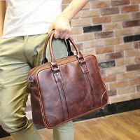 Men Business Leather Handbag Vintage Briefcase Laptop Messenger Bag Shoulder bag