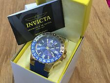 19270 Invicta Mens 52mm Aviator Voyage Quartz 18KT Gold-Plated Case Strap Watch