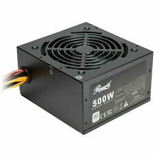 500 Watt Gaming Computer Power Supply, 80 PLUS White Non-Modular PSU Active PFC