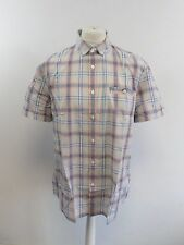 Mens Jack Wills Northbridge Short Sleeve Shirt Peach Check Medium box5625 N