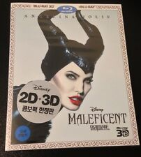 Disney MALEFICENT 3D & 2D Blu-Ray w/ Slip Cover Region Free 2-Disc Kimchi Korea