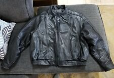 PROTECH LEATHER THINSULATE MOTORCYCLE Jacket WITH LINER WOMENS XL