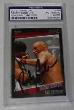 Randy Couture Signed 2010 Topps Card #16 PSA/DNA COA Autograph 28 13 43 44 49 91