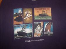 Holland American Line L blueish t shirt