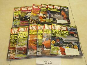 Hot Rod MAGAZINE LOT OF 11 ISSUES  Vintage Car Automobile 1993