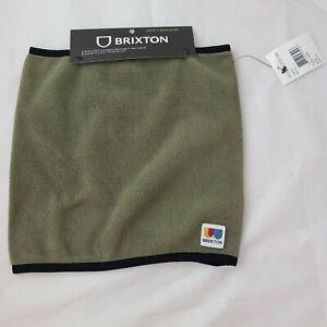NWT BRIXTON Military Olive Arctic Fleece Gaiter OS Men