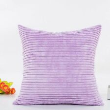 Corn Strip Velvet Corduroy Plush Plain Throw Pillow Case Cushion Cover Home Sofa