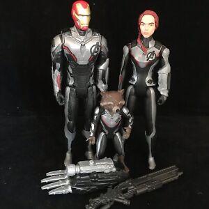 "3x Marvel End Game Avengers Titan Hero Power FX Series 12"" Figures Toy Bundle"