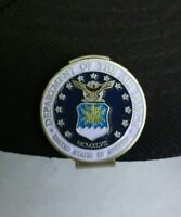 """US AIR FORCE 1"""" Golf Ball Marker 2 sided & Hat Clip"""