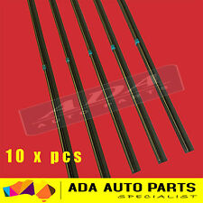 "10 x Premium Wiper Blade Inserts Refills 6mm 24"" Universal Twin Rail Metal Back"