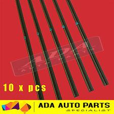 """10 x Premium Wiper Blade Inserts Refills 6mm 24"""" Universal Twin Rail Metal Back"""
