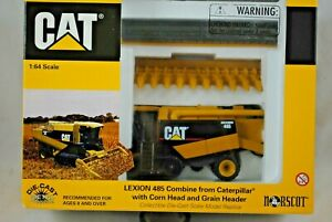 1:64 NORSCOT 55028 CAT LEXION 485 Combine Harvester with Working Features MIB