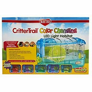 Kaytee CritterTrail Color Changing LED Light Habitat 16 inches x 10.5 inches x