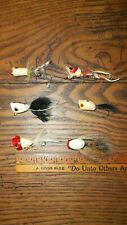 Lot of 6 Vintage White & Red Fishing Flies, Lures, Unknown maker! Nice Flies!