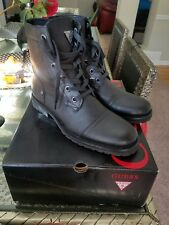 Guess GM Texin Military Cap Toe Boots Size 8