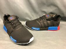 Adidas Men's NMD_R1 Running Sneakers Mesh Black Red Blue Size 12 NEW!