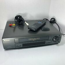 Sharp VCR 4-Head VHS VC-A542 Exact Track Heads AI Picture w Remote Tested Works!