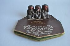 Vintage Monkey Souvenir Dont Monkey with Desk Flint Mich. Felt pad Speak No Evil
