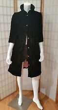 True Vintage 1960s MOD Velvet Quilted Opera Black Coat  3/4 length sleeve Small