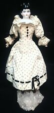 VINTAGE Low Brow Victorian CHINA HEAD DOLL PORCELAIN GERMANY #1 on her back