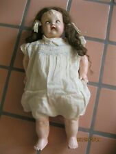 "Effanbee Antique Composition Baby Doll Sleepy Eyes 24"" With Cry Box non-working"