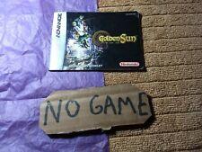 Golden Sun GameBoy Advance, Manual Only.