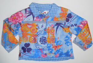 Size 1, 2 - Girls Clayeux Blue Lightweight Jacket French Designer - 12 months