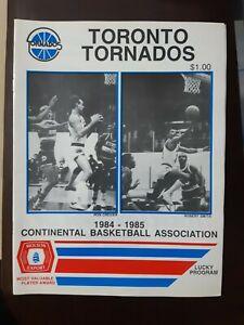 1984 CBA TORONTO TORNADOS v ALBANY PHIL JACKSON COACH BASKETBALL PROGRAM - RARE