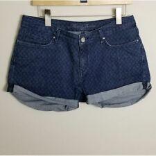 Mavi Jeans Emily 30 Denim Star Printed Shorts Dark Wash