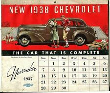 VINTAGE 1938 CHEVROLET GMC ADVERTISING MODEL YEAR CAR CALENDAR