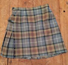 Plaid wool skirt Hector Russell Kiltmaker Inverness Scotland vintage Xs S Euc