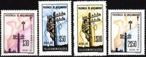 MOZAMBIQUE 1965 Postage Due. Telephone and Telegraph Lines Setting. Complete MNH