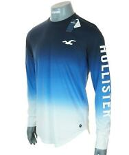 New Men's Authentic Hollister Long Sleeve Ombre T Shirt Logo Graphic Xlarge