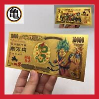 BILLET TICKET FIGURINE SUPER DRAGON BALL Z SONGOKU GOKU CARTE COLLECTOR GOLD OR