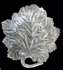 Large Vintage Reed & Barton Sterling Silver Leaf Bowl Plate X937 Repousse