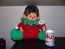 Large  Monchichi Type Elf  Thumb Ears  Suckers Sucking Plush Doll  Sleepy Eyes