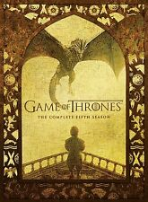 Game of Thrones Complete Fifth Season (DVD-2016, 5 Disc Box Set) NEW & UNSEALED*