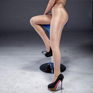 220Lbs Lady 70D Sexy Shiny Silk Pantyhose Shaping Stockings Tights Bar Dance