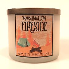 NEW 1 MARSHMALLOW FIRESIDE BATH & BODY WORKS 14.5 OZ SCENTED 3-WICK LARGE CANDLE