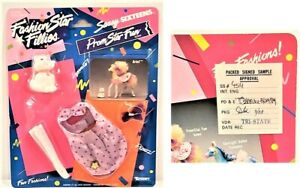 FASHION STAR FILLIES PROM STAR FUN OUTFIT 1989 Signed SAS SAMPLE Kenner Designer