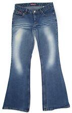 Vintage Bubblegum Junior Womens Jeans Flare Low Rise Cotton Denim Size 5 6 28x31