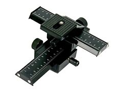 4 Way Macro Shot Focusing Fine Focus Rail Metal Slider For DSLR Camera Dual Axis