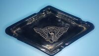 Vintage Camel logo Glass Ashtray  Diamond Shaped black