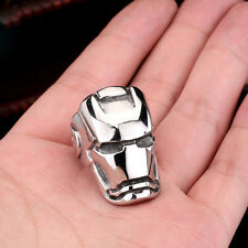 High Quality Iron Man Helmet Mens Jewelry 316L Stainless Steel Ring Sz  9