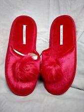 Victoria's Secret Faux Fur Slippers Red Large