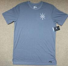Nike sz L Men's Core Art Basketball Crew Neck T - Shirt New 806931 065 Grey