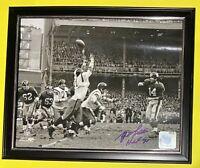 "🔥YA Y.A. Tittle SIGNED 8x10 Photo + ""HOF 71"" New York Giants NFL Holo AUTO HTF"