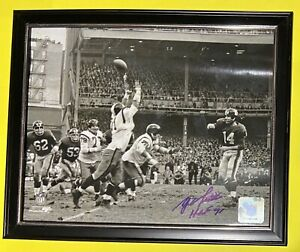"🔥YA Y.A. Tittle SIGNED 8x10 Photo + ""HOF 71"" New York Giants NFL Holo AUTO HTF"
