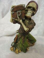 Resin Skeleton Pirate & Treasure Chest Figure